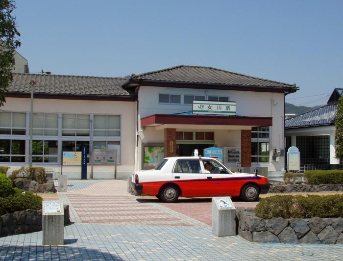 震災前の女川駅